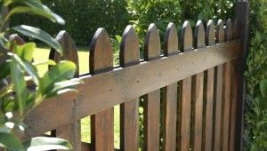 How to preserve a wooden fence?