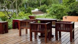 Permanent protection for garden furniture